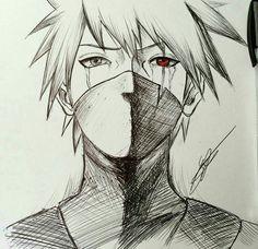 Kakashi hatake (credit goes to whomever drew this) Anime Naruto, Naruto Sasuke Sakura, Naruto Shippuden Anime, Naruto Art, Manga Anime, Boruto, Kakashi Drawing, Naruto Drawings, Anime Drawings Sketches