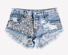 Luna Acid Studded Babe Shorts