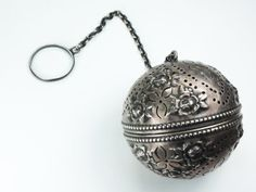 Oh. Want. Oh. Can't have.  Just beautiful ..... Antique Gorham Tea Ball Infuser 1869