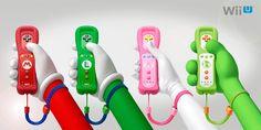 Mario, Luigi, Peach, Yoshi Wii Remote Plus Controllers