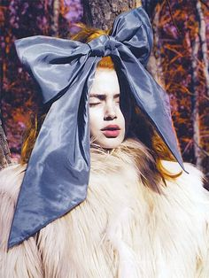 """Doutzen Kroes in """"Into the Woods"""" by Marcus Piggott for W August 2007"""