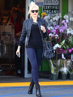 Gwen Stefani - workin it casual style. I adore her.  should be easy...use the two fabrics on the sleeves