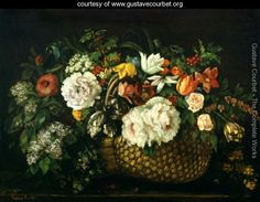 Flowers in a Basket, 1863 - Gustave Courbet - www.gustavecourbet.org