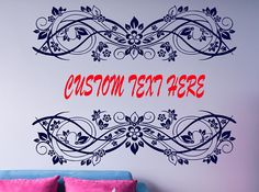 Custom Text Wall Decal, House Warming Gift, Living Room Wall Decal, Monogram Decal, Personalized Name Decor, Wedding Gift Favor nm146 #weddings #weddingplanning #mrandmrs #walldecal #weddinggifts #weddingpresent #customnamedecor #customtext #housedecor #roomremodel #diyproject #diy #weddingart #roomart #roomdecor