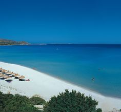 The Beach at Tanka Village situated near Villasimius, on the south eastern tip of Sardinia,
