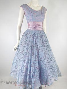 50s Lavender Full Skirt Party Dress