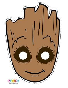 I bet I can turn this into a hat for my Groot costume! Guardians of the Galaxy Photo Booth Printable Masks, Photobooth Props Printable, Free Printable, Baby Groot, Groot Halloween Costume, Groot Costume For Kids, Gaurdians Of The Galaxy, Guardians Of The Galaxy Vol 2, Avengers Birthday