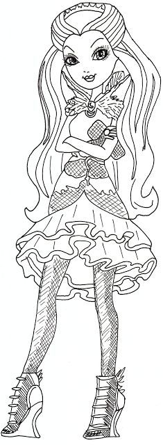 Free Printable Ever After High Coloring Pages: Raven Queen Ever After High Coloring Sheet