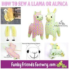 My Llama & Alpacca Sewing Pattern is ready! | Funky Friends Factory