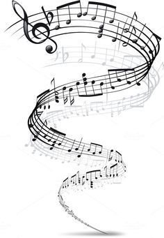 music notes twisted into a spiral by sharpner on Creative Market - Tattoo MAG Music Tattoo Designs, Music Tattoos, Sheet Music Tattoo, Tatoos, Tattoo Nota Musical, Note Music, Freddie Mercury Tattoo, Note Tattoo, Pop Rock