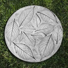 Beautifully imprinted with hydrangea leaves, the Campania International Hydrangea Leaf Cast Stone Stepper brings organic style to your garden. Concrete Stepping Stones, Concrete Leaves, Garden Stepping Stones, Homemade Stepping Stones, Stepping Stone Crafts, Decorative Stepping Stones, Stepping Stone Molds, Garden Steps, Easy Garden