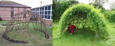 Create a willow garden sculpture to create shaded areas in the garden