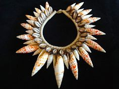 New York Fashion Week Glamour Mitra shell necklace by ubudexotica