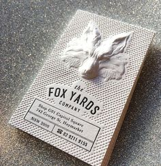 The Top 12 Most Attractive Embossed Business Cards    Fox Yard Embossed Business Cards