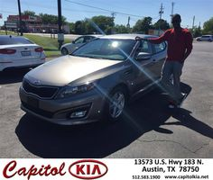 https://flic.kr/p/FLx4uS | Happy Anniversary to Christopher  on your #Kia #Optima from Ashley Adams at Capitol Kia! | deliverymaxx.com/DealerReviews.aspx?DealerCode=RXQC