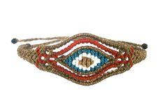 Macrame eye bracelet/Evil eye bracelet/Macrame jewelry/Friendship bracelet/Bohemian jewelry/Micromacrame