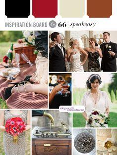 Speakeasy style wedding inspiration.