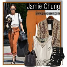 Jamie Chung out in West Hollywood on March, Jamie Chung, West Hollywood, Get The Look, Celebrity Style, March, Michael Kors, Street Style, Polyvore, Pink