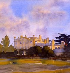 Prince Charles painted Highgrove House (created in 1999)