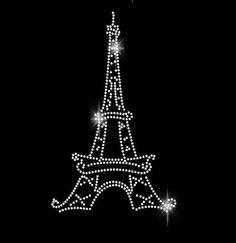 Eiffel Tower Rhinestone Transfer Iron On Bling - T Shirt Transfer 34105 Rhinestone Tshirts, Rhinestone Art, Rhinestone Transfers, Bling Wallpaper, Vintage Jewelry Crafts, Paris Party, T Shirt Transfers, Paris Eiffel Tower, Pin Art