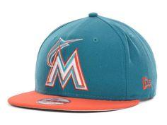 Miami Marlins New Era MLB NEFS Basic 9FIFTY Snapback Cap Hats