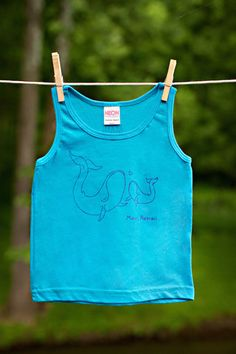 Maui Whales on Neon Blue Toddler Tank Top – MAUI DAD