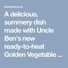 A delicious, summery dish made with Uncle Ben's new ready-to-heat Golden Vegetable rice. Greek Chicken, Bbq Chicken, Greek Salad Ingredients, Food Dishes, Main Dishes, Fat Head Dough, Rice Salad Recipes, Twisted Recipes, Vegetable Rice