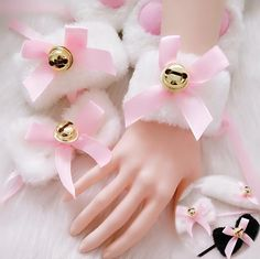 """Black/White fluffy bowtie bell maid set three-pieces - Use the code """"batty"""" at Cute Harajuku and Women Fashion for off your order! Looks Kawaii, Estilo Lolita, Kawaii Accessories, Accesorios Casual, Kittens Playing, Daddys Little, Kawaii Clothes, Cosplay Outfits, Kawaii Girl"""