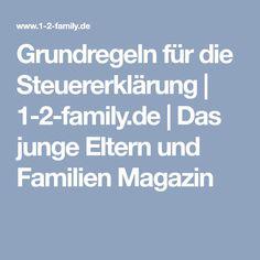 Grundregeln für die Steuererklärung | 1-2-family.de | Das junge Eltern und Familien Magazin