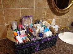 toiletries basket wedding - Google Search