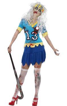 Zombie Hockey Girl Costume