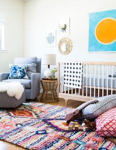 Ideas for a boho nursery neutral - Baby Room Ideas Nursery Rugs, Boho Nursery, Nursery Neutral, Girl Nursery, Nursery Decor, Woodland Nursery, Bright Nursery, Style Californien, Decor Scandinavian