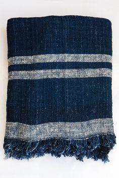 Khadi striped throw – Lost & Found