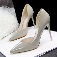 Women's Shoes Summer Fashion Pumps Simple Pointed Toe 10cm Red Botton High Heels PU Casual Occupation Women Shoes
