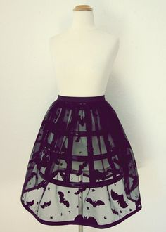 Most popular tags for this image include: skirt, bats, black, fashion and cute lou couture