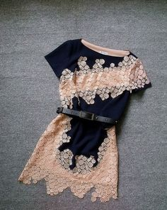 Embroidered Slim Irregular Dress