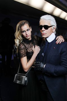 Karl Lagerfeld's Muse … Alice Dellal for the new Chanel Boy Bag Campaign