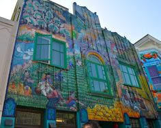 Colorful mural in San Franciso's Mission District