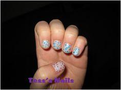 Patriotic Polka Dot nails
