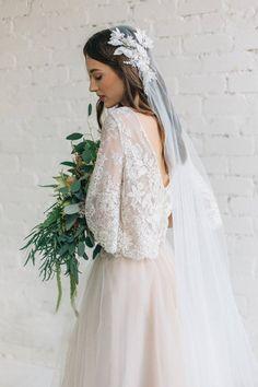 b58f3f1d54c8 Bohemian Wedding Dress   Bridal Separates   Bell Sleeve Floral