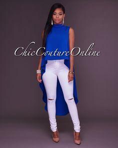 Chic Couture Online - Doria Drastic Hi Low Hem Cobalt Blue Top, (http://www.chiccoutureonline.com/doria-drastic-hi-low-hem-cobalt-blue-top/)