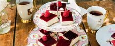 Raspberry Jelly Cheesecake Slice - Quirky Cooking