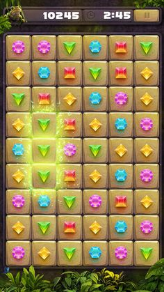 Match 3 IOS game puzzle elements PSD by Arthur Lipsky on Creative Market