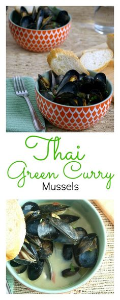 Bring the exotic flavors of Thai Green Curry Mussels home with this quick and easy recipe.