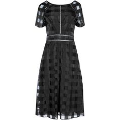True Decadence Short Sleeve Midi Dress ($78) ❤ liked on Polyvore featuring dresses, black, women, short-sleeve dresses, striped bodycon dress, short sleeve bodycon dress, stripe midi dress and midi body con dress
