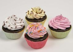 Replica Cupcakes Pk4 - Cakes Desserts They look good enough to eat! #FakeFood