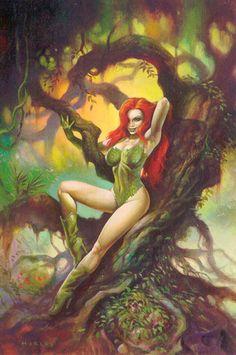 Pretty Poison Ivy - Batman Art at Choice Collectibles Animation Art Gallery Poison Ivy Batman, Poison Ivy Dc Comics, Comic Book Artists, Comic Books Art, Comic Art, Poison Ivy Photos, Pinup, Female Villains, Lowbrow Art