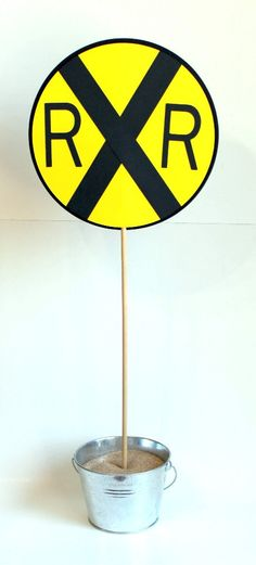 Train Birthday Party  Railroad Crossing Sign by mlewis117 on Etsy, $35.00