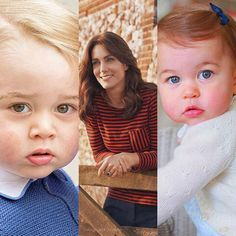 Catherine, Duchess of Cambridge and her children, Prince George and Princess Charlotte.