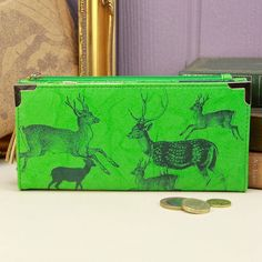 heritage and harlequin deer purse by lisa angel homeware and gifts   notonthehighstreet.com